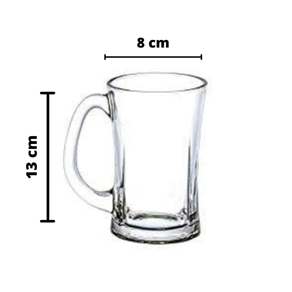 Clear Glass Beera Chilled Beer Mug 350 ml - Set of 2