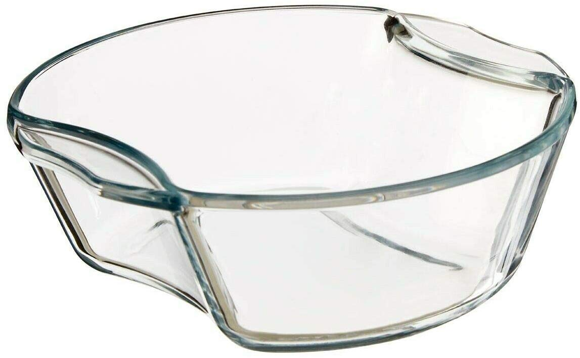 Borosilicate Glass Microwave Safe Casserole - 1000ML, 1500ML, Set of 2
