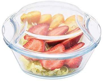 Borosilicate Glass Microwave Safe Casserole - 1500ML, 500ML, Set of 2