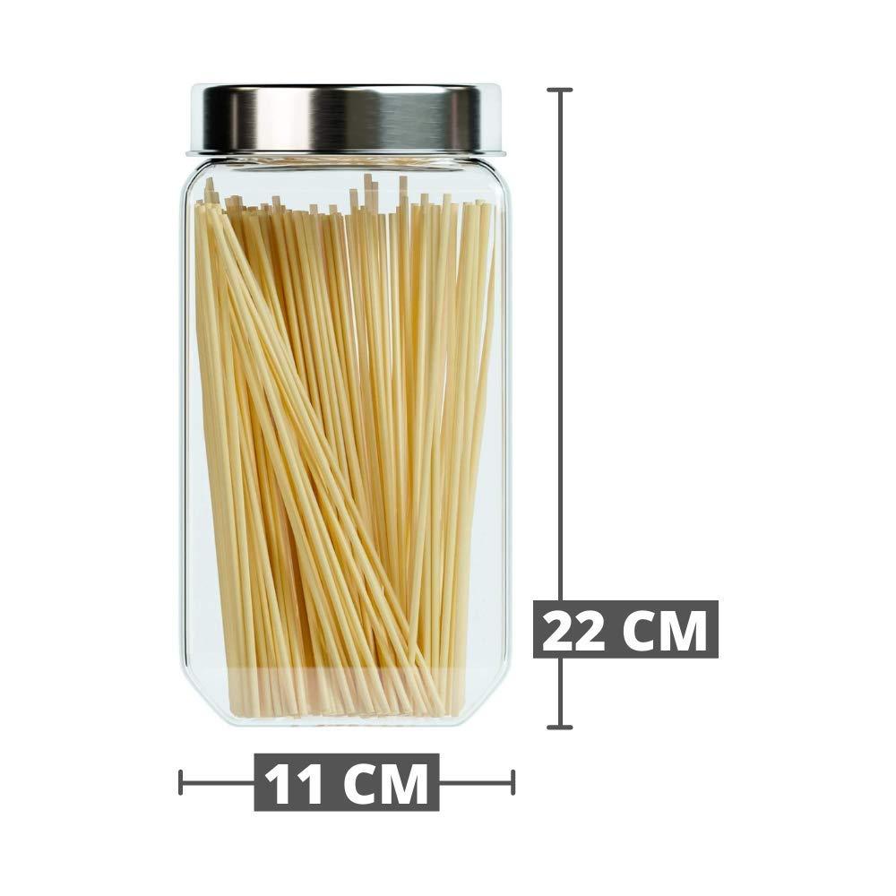 Octo Storage Glass Jar - 2000 ML