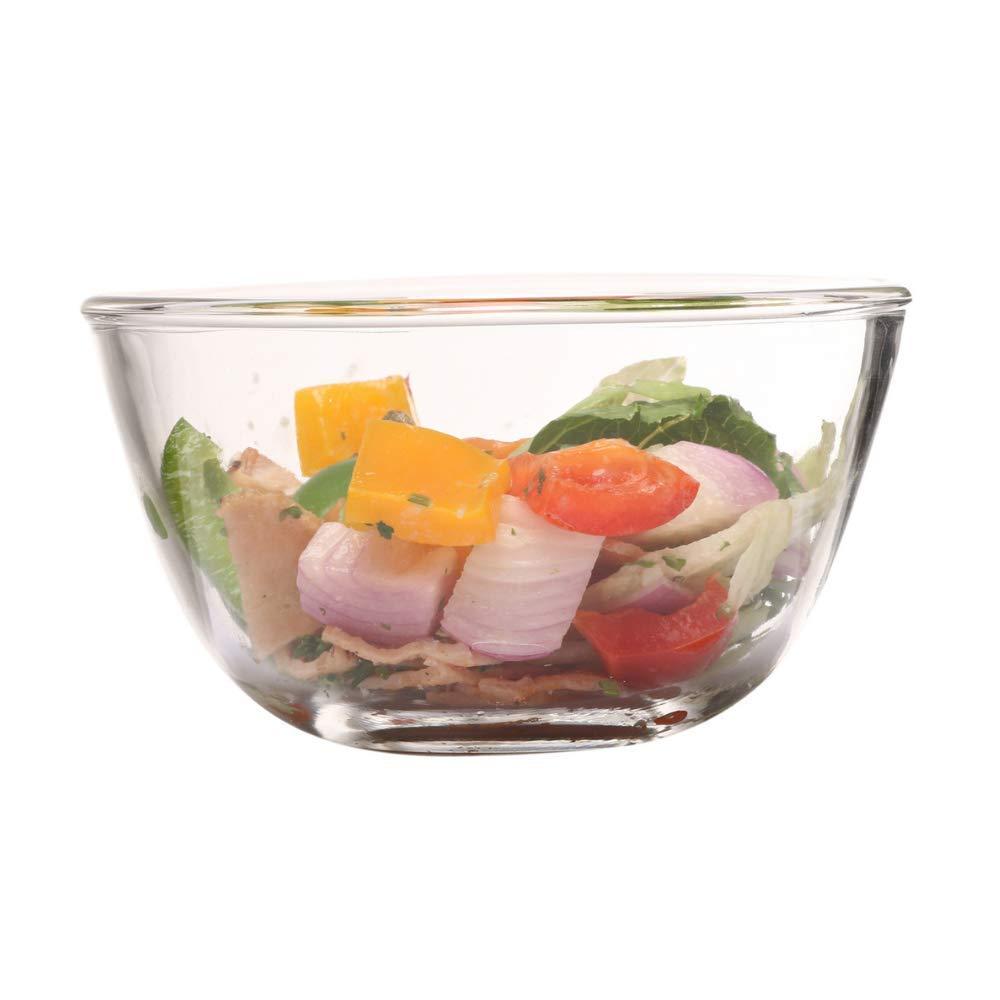 Borosilicate Glass Mixing Bowl and Square Dish, (Bowl-1650ML, Dish-1700ML)- Set of 2