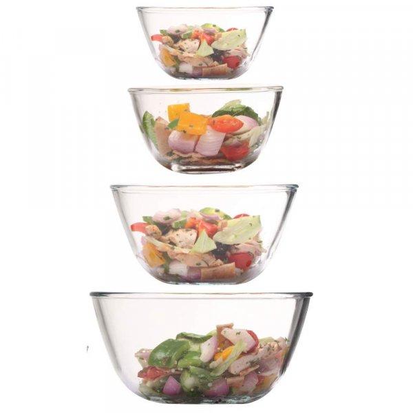Borosilicate Glass Mixing Bowl 1650 ML_2100 ML_2650 ML_3600 ML, Set of 4