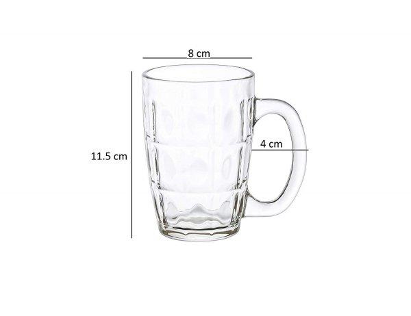 Clear Glass Neolo Beer Mug - 300 ml - Set of 2