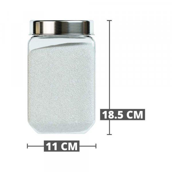 Octo Storage Glass Jar - 1150 ML_1550 ML_2000 ML - Set of 3
