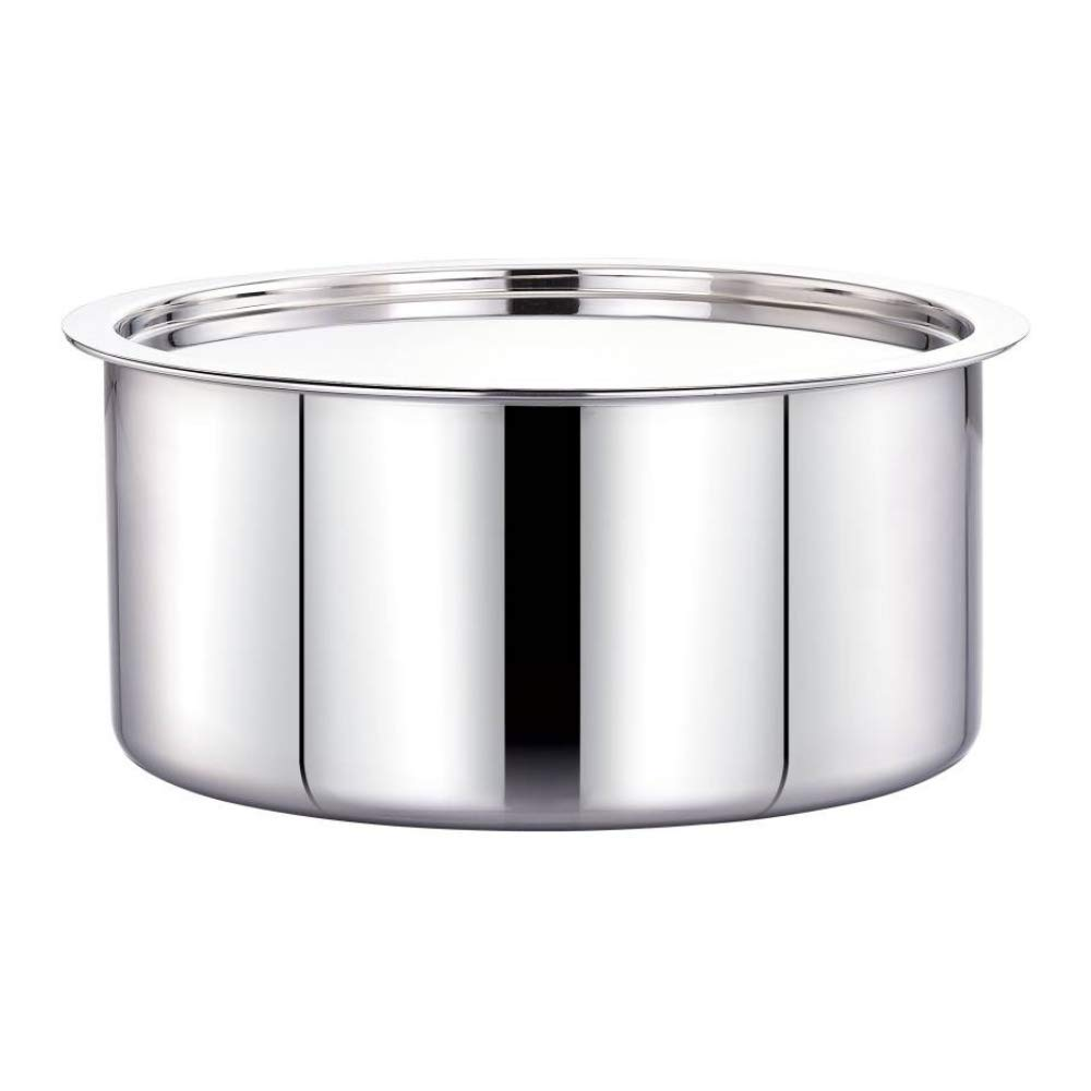 Tri-ply Tope 20x10cm with Steel Lid Healthy Cooking (Zero Non-Stick Coating)
