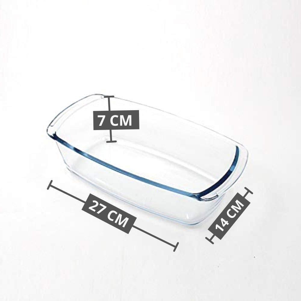 Borosilicate Glass Mixing Bowl and Loaf Pan, (Bowl-1650ML, Loaf Pan-1800ML)- Set of 2