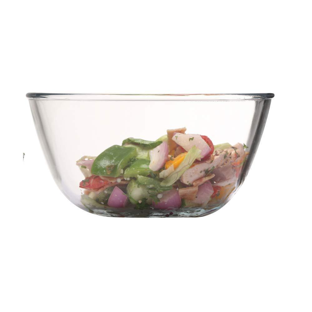 Borosilicate Glass Mixing Bowl and Oval Dish, (Bowl-1050ML, Dish-1600ML)- Set of 2