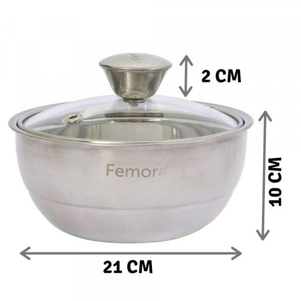 Stainless Steel Curry Server - 1.50 L - Set of 3