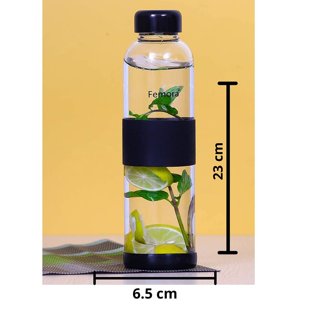 Borosilicate Glass  Water Bottle - 500 ML