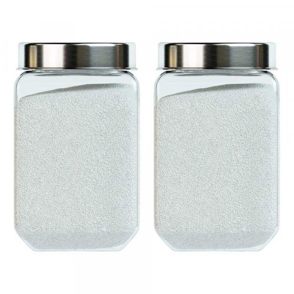 Octo Storage Glass Jar - 1550 ML- Set of 2