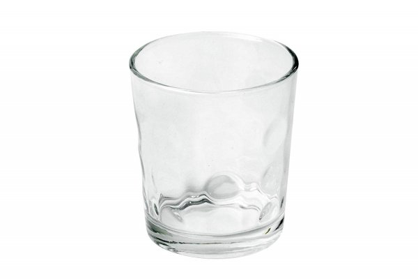 Clear Glass Rome Water Tumbler - 240 ML, Set of 4