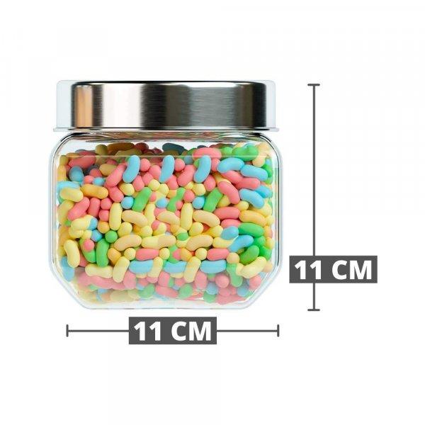 Octo Storage Glass Jar - 850 ML- Set of 4