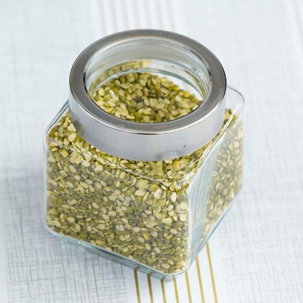 Glass Cuboid Kitchen Storage Jar-500ML
