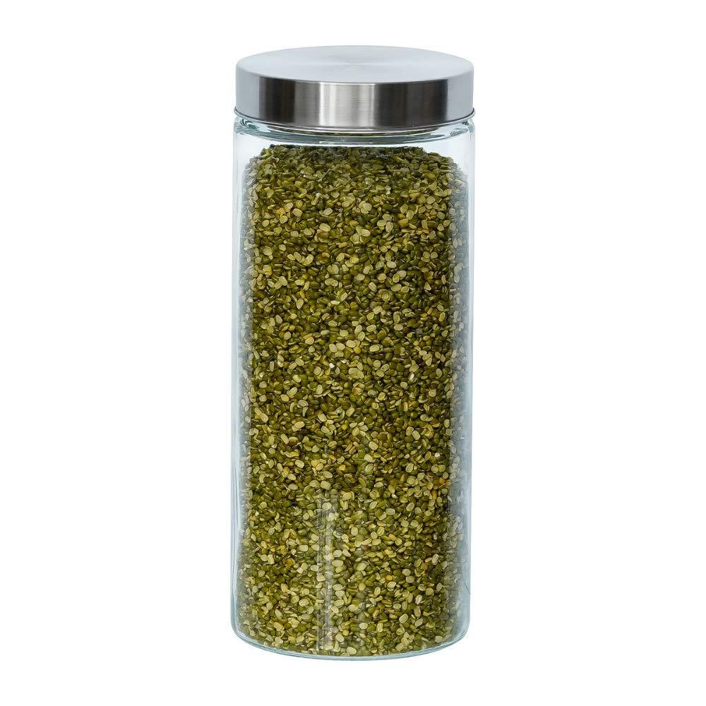 Glass Cylinder Storage Jar-2200ML, Set of 2