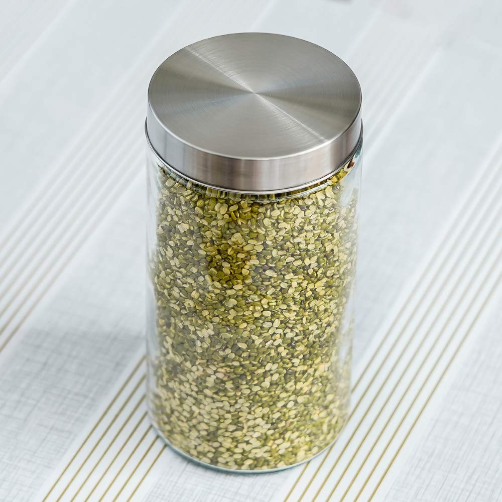 Glass Cylinder Storage Jar-1600ML, Set of 4