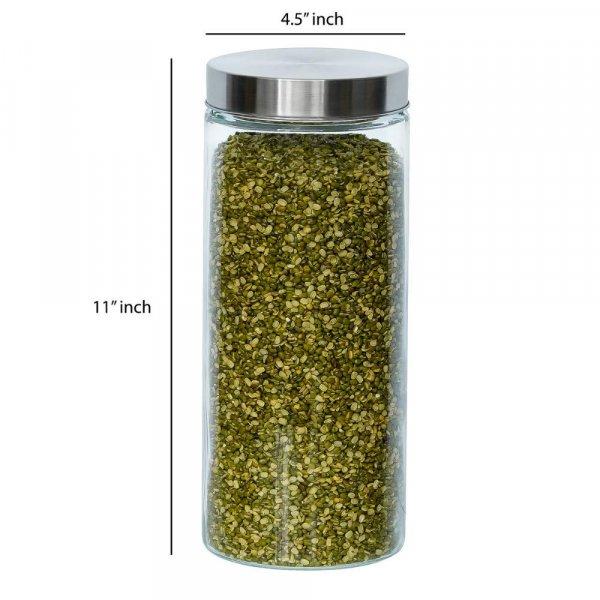 Glass Cylinder Storage Jar-2200ML, Set of 6