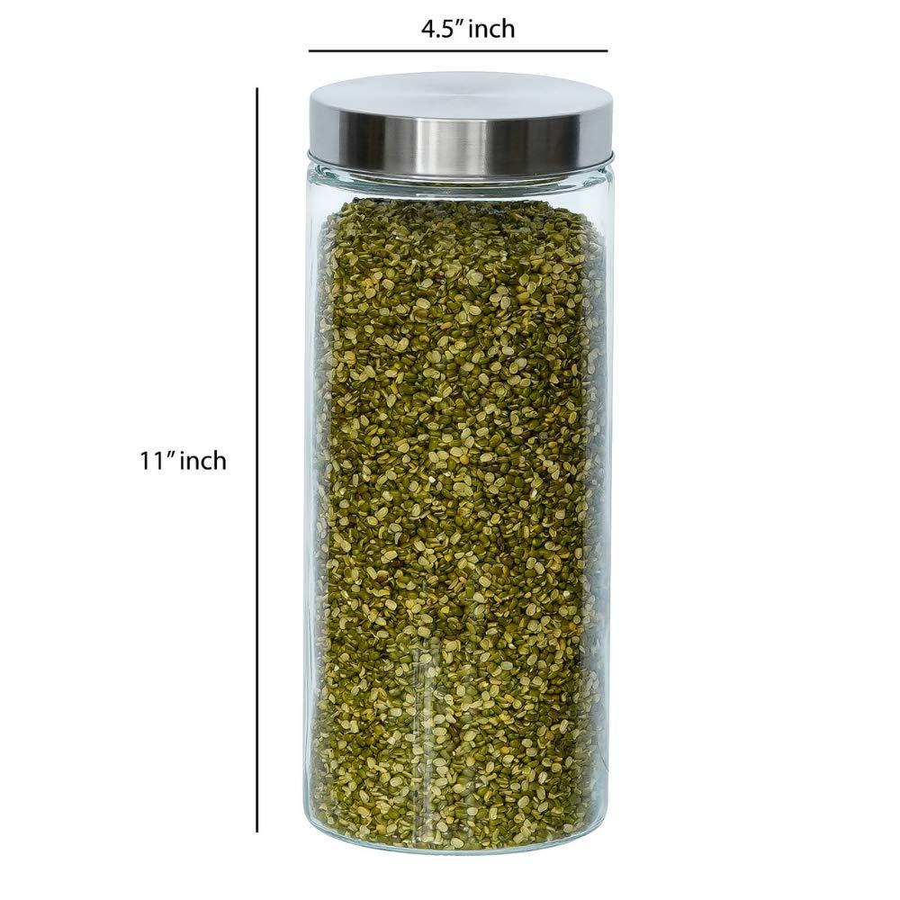 Glass Cylinder Storage Jar-2200ML, Set of 4