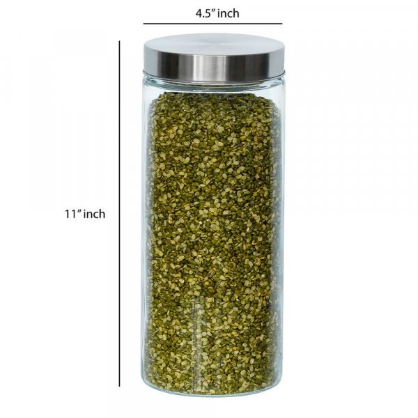 Glass Cylinder Storage Jar-2200ML