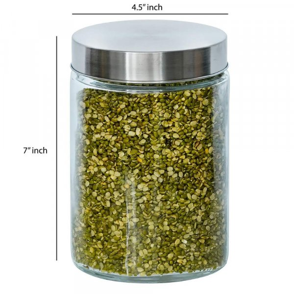Glass Cylinder Storage Jar-1100ML, Set of 6