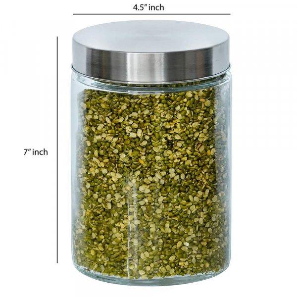 Glass Cylinder Storage Jar-1100ML