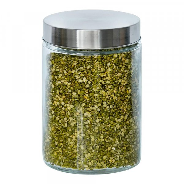 Glass Cylinder Storage Jar-1100ML, Set of 4