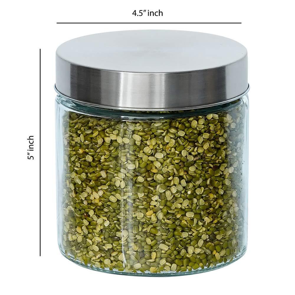 Glass Cylinder Storage Jar-750ML, Set of 4