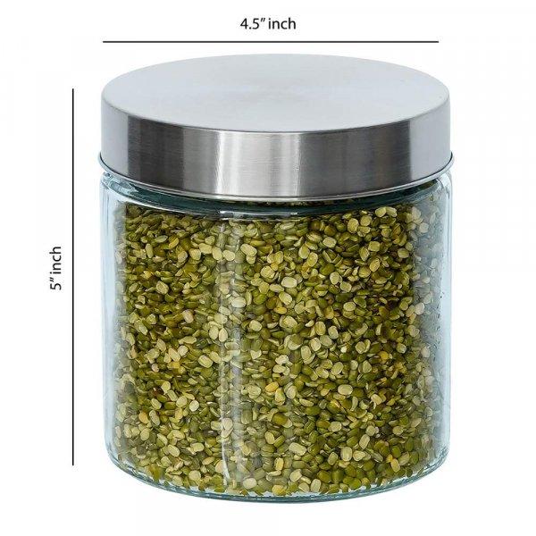 Glass Cylinder Storage Jar-750ML, Set of 2