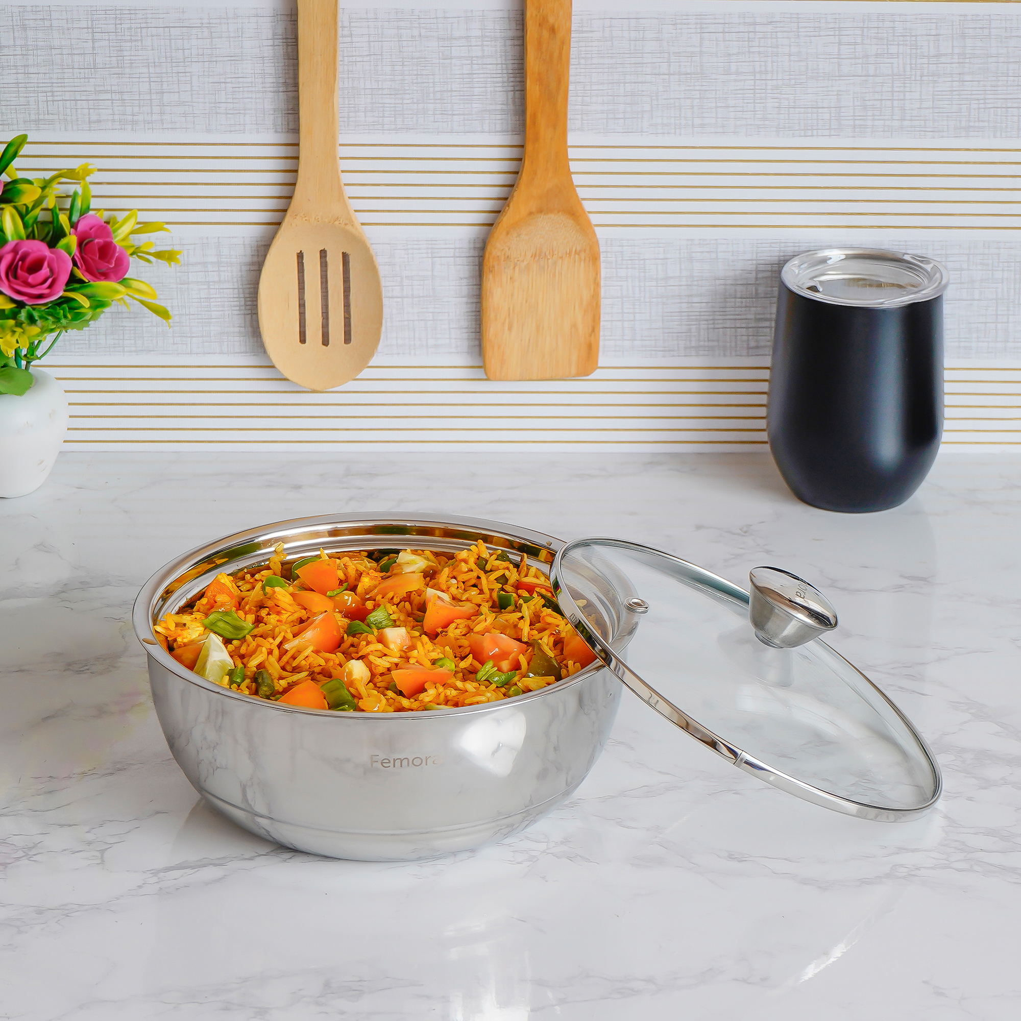 Stainless Steel Curry Server - 500ml