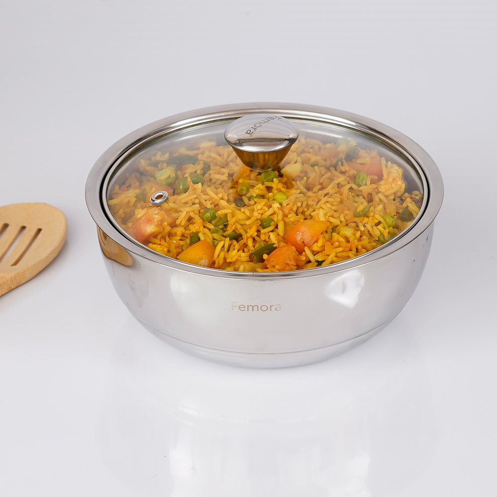Stainless Steel Curry Server - 500ml - Set of 2