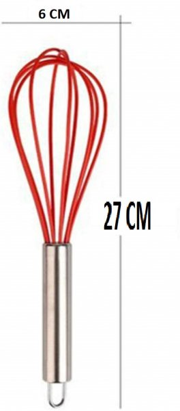 Silicone Premium Egg Whisk with Grip Handle,  Set of 2