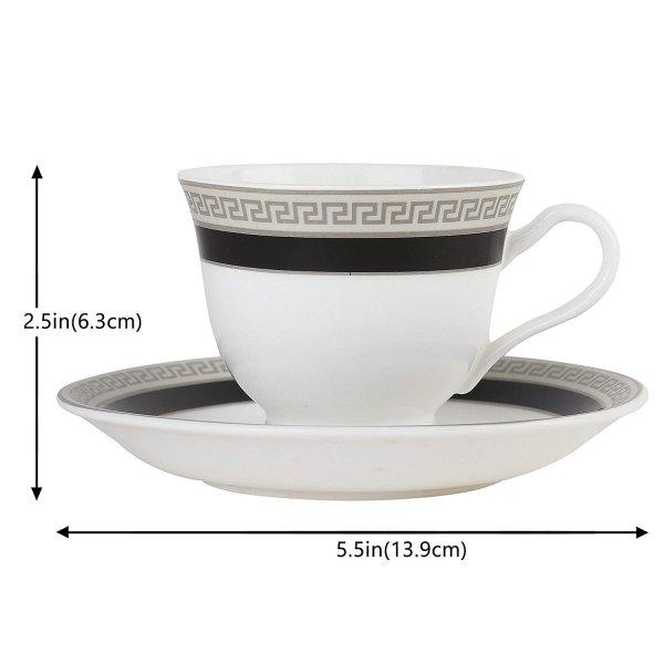 Ceramic Classical Blue Border Cup & Saucer, 200ml
