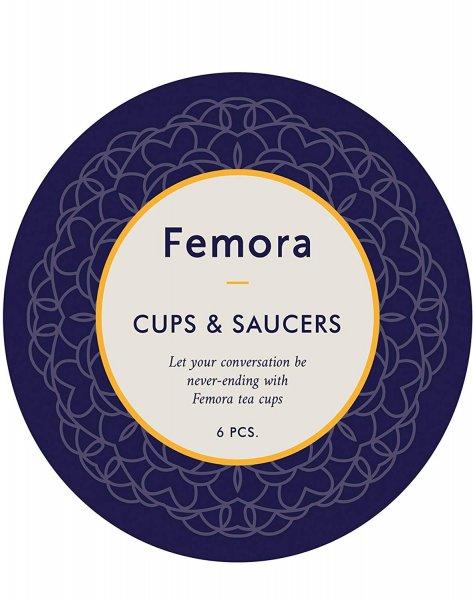 Indian Ceramic Flora Series Cup Set with Saucer, 205 ml