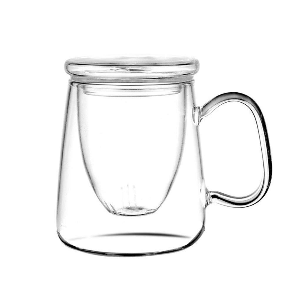 Borosilicate Glass Cup with Tea Coffee Infuser - 400 ML