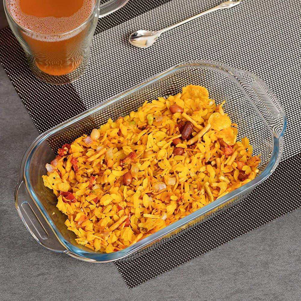 Borosilicate Glass Baking Loaf Pan Dish, 520 ML, Set of 1