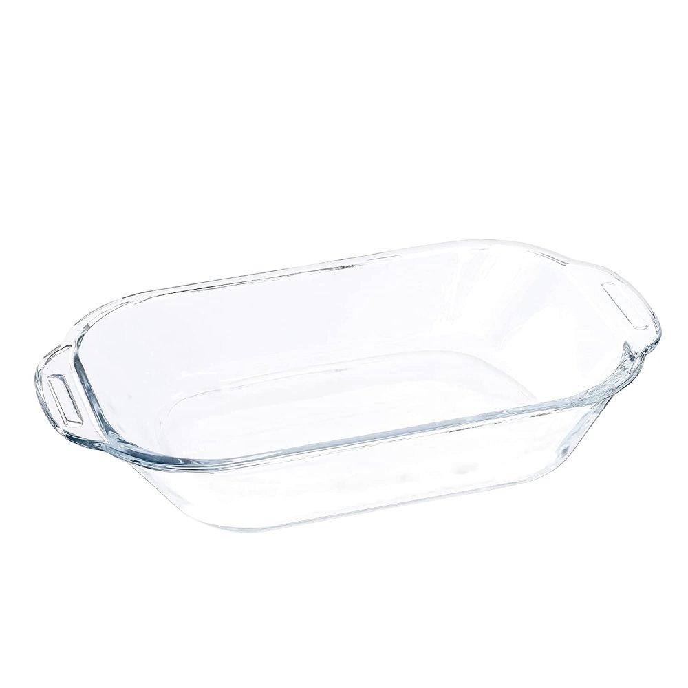 Borosilicate Glass Baking Loaf Pan Dish, 520 ML, Set of 2