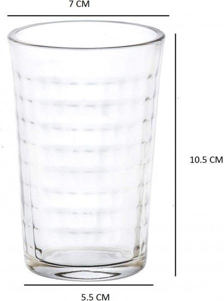 Clear Glass Tumbler 160 ML, Set of 4