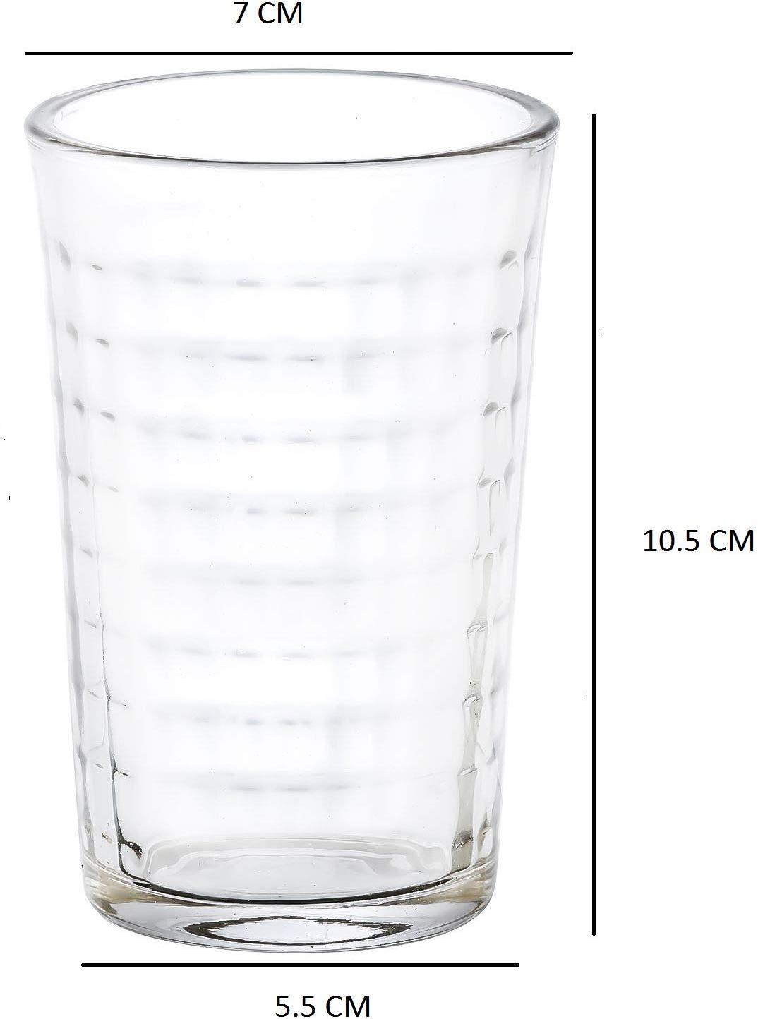 Clear Glass Tumbler  - 160 ML, Set of 6