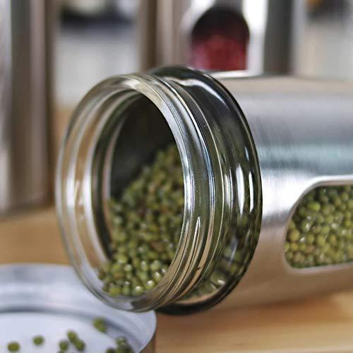 Clear Glass Steel Window Jars - 1300ML