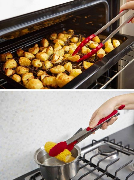 Silicone Premium Food Tong with Grip Handle