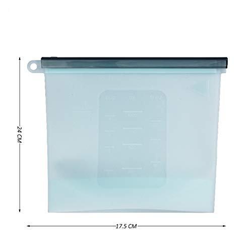 Silicon Ziplock Airtight  Microwave  Bags - 1000 ML