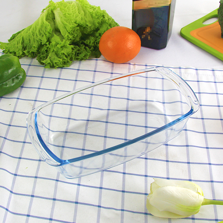 Borosilicate Glass Baking Loaf Pan Microwave Safe - 1800 ML, Set of 1