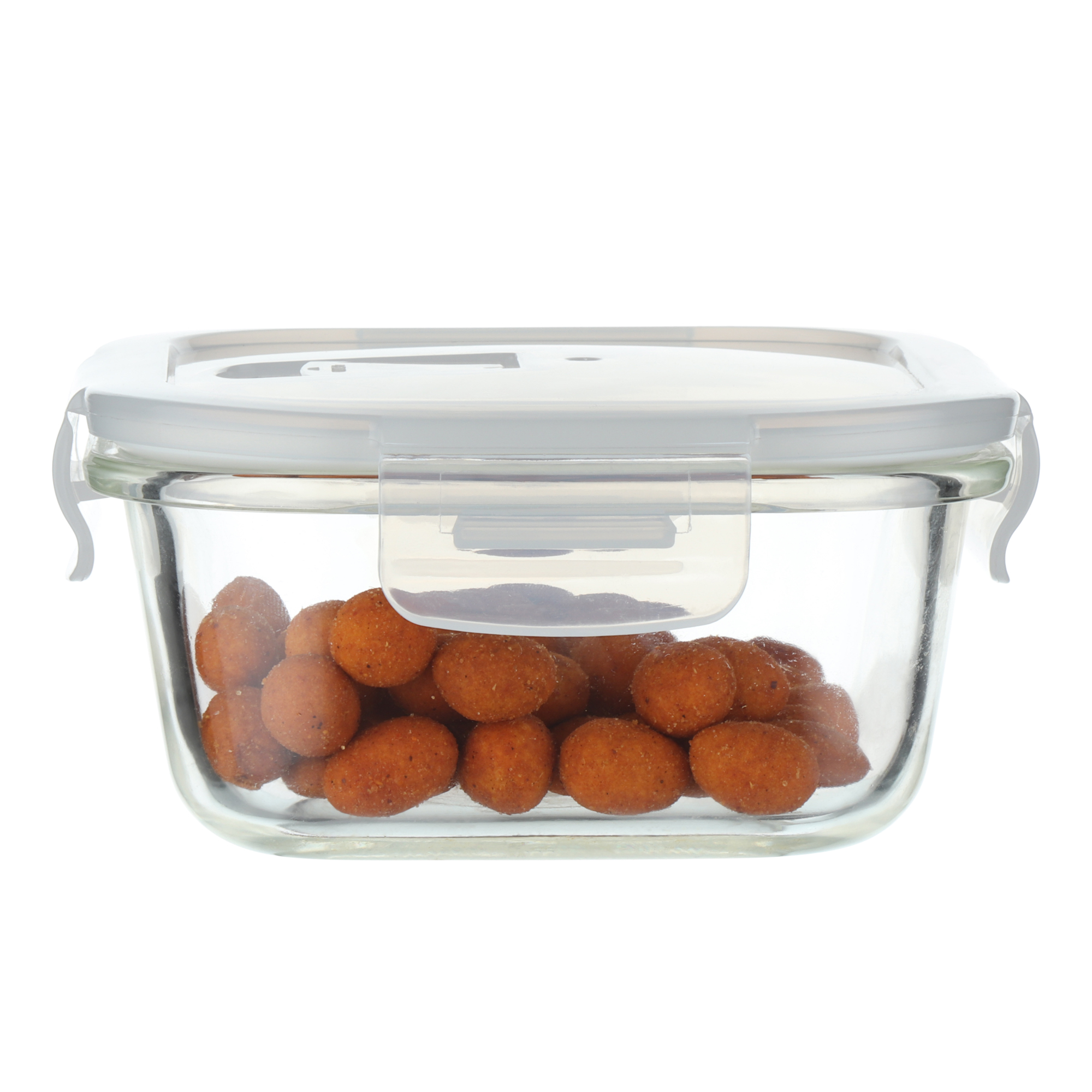 Borosilicate Glass Square Container with Air Vent Lid 500 ML