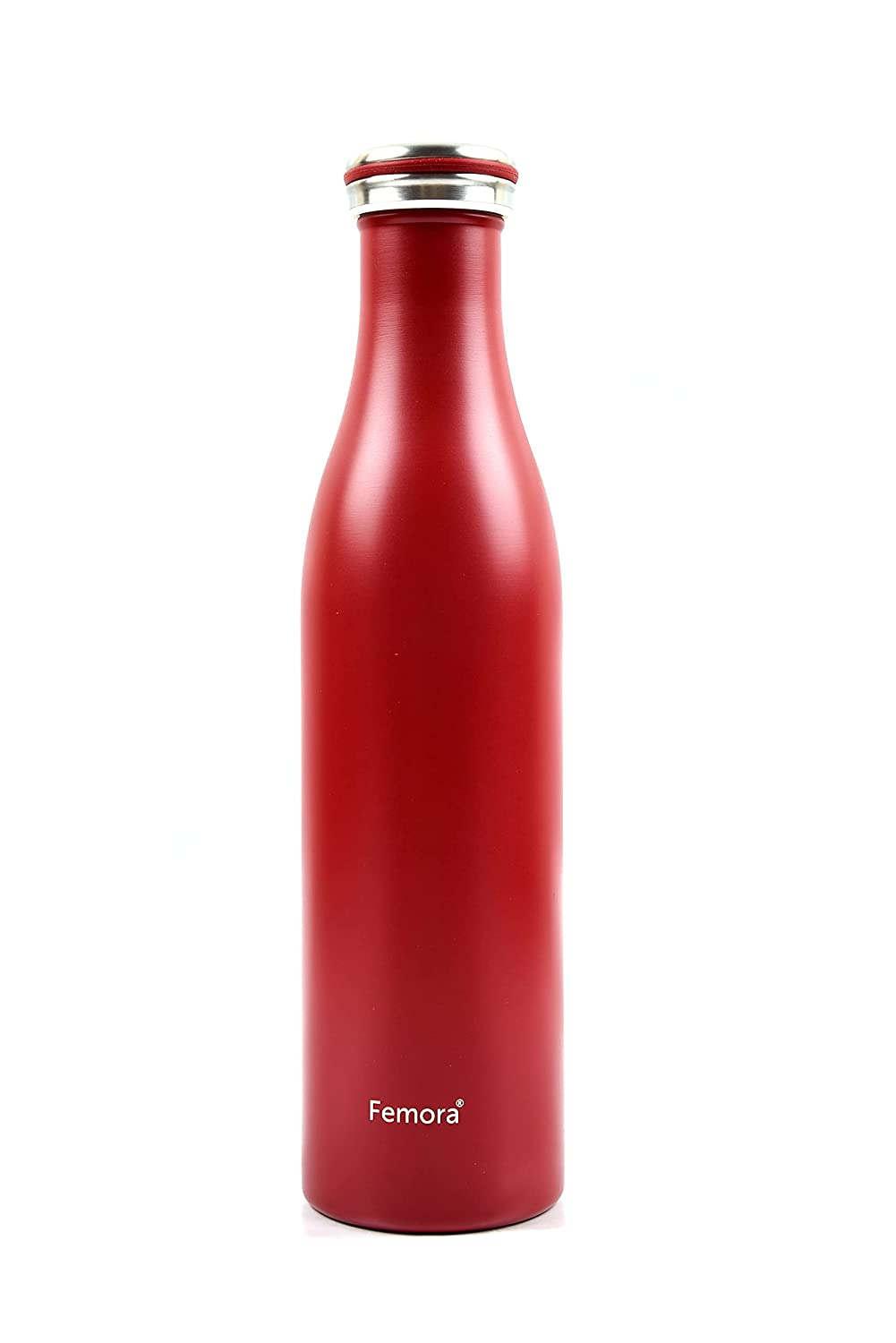 Thermosteel Vacuum Cola Stainless Steel Bottle - 750 ML, Red, 12 hrs HOT and Cold