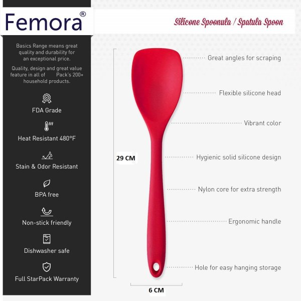 Silicone Premium Spoon with Grip Handle,  Set of 2