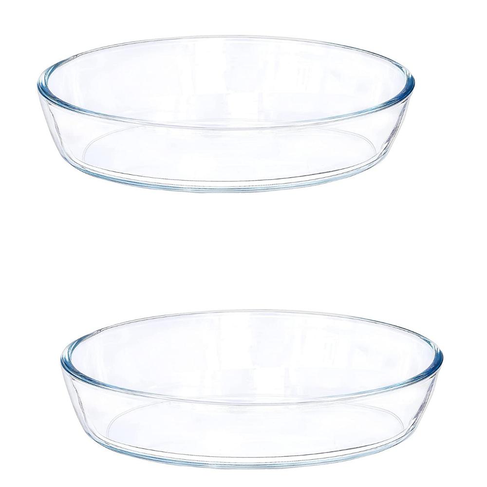 Borosilicate Glass Baking Oval Dish, 460 ML, Set of 2