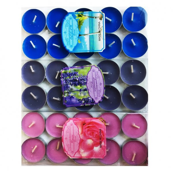 Table Candles - 10pcs/pack - Assorted  3 Colors
