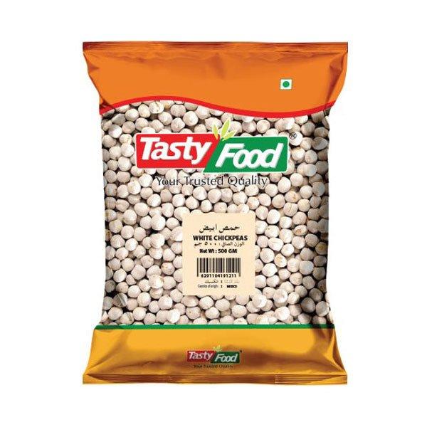 Tasty Food White Chickpeas 500gm