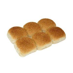 Bakers World Bun With Sesame Seeds 6pc 340g