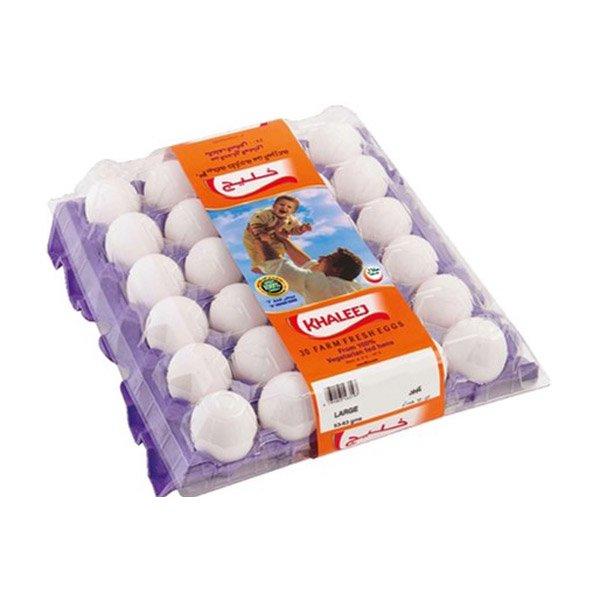 Al Khaleej White Eggs Large 30 Pcs Tray