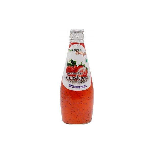 American Choice Basil Seed Strawberry Drink 290ml